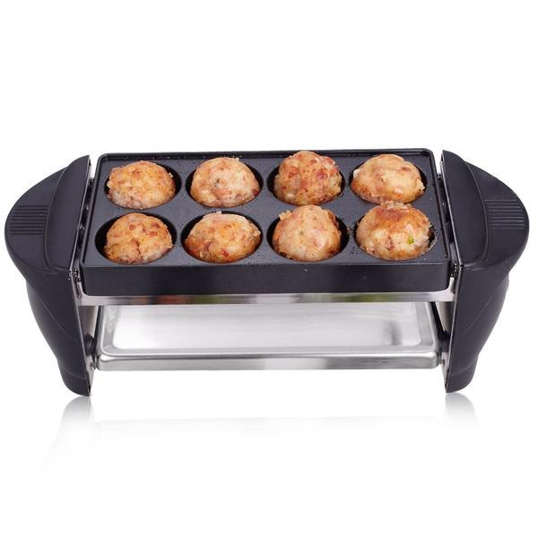 Double Layer Smokeless Japanese Takoyaki Machine Octopus Ball Electric BBQ Grill Pan Home Kitchen Electrical Appliance Japan Style B
