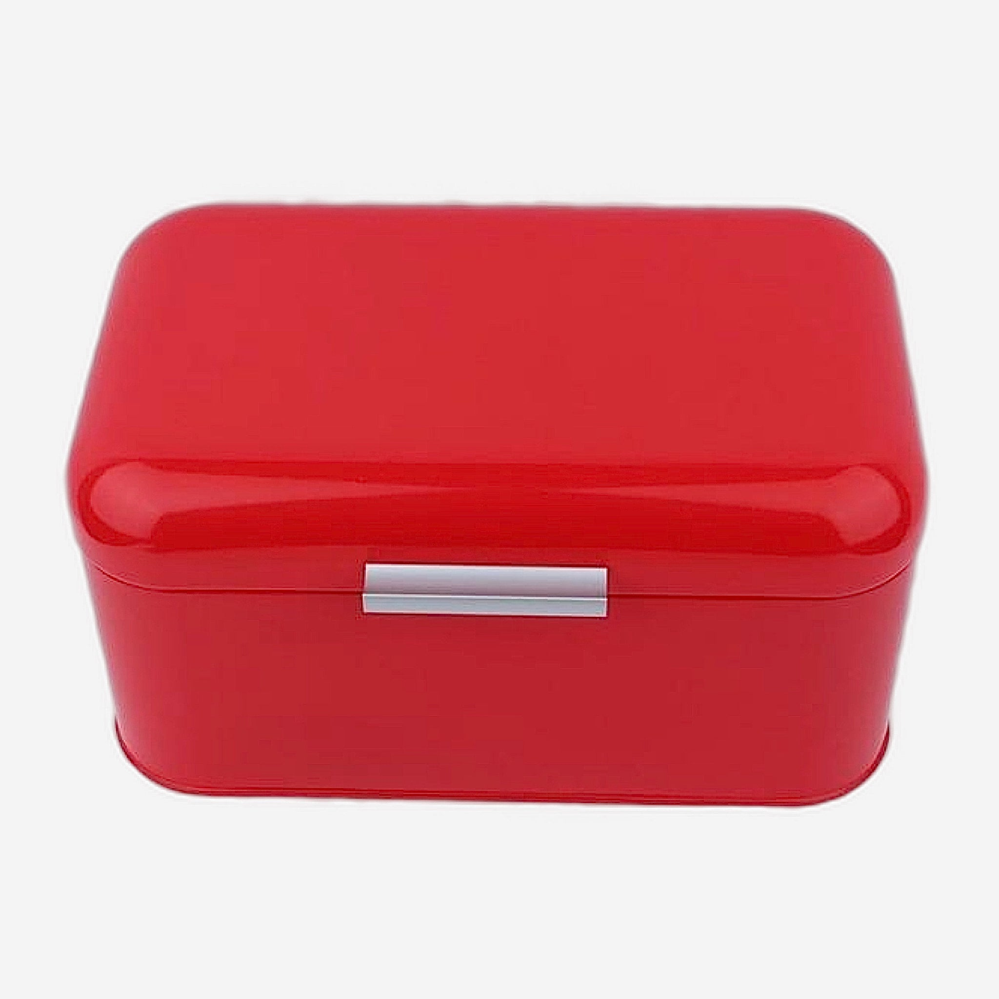 Retro Red Metal Bread Box Bread Storage Organizer Boxes Solid Color Large Capacity Bin Kitchen Storage Container Trending Style