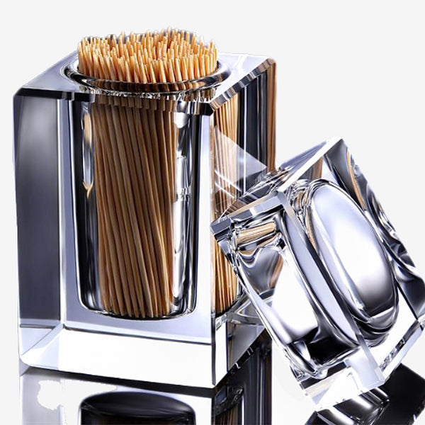 Elegant Transparent Toothpick Dispenser Box Transparent Toothpicks Case Holder Kitchen Ornament Trend