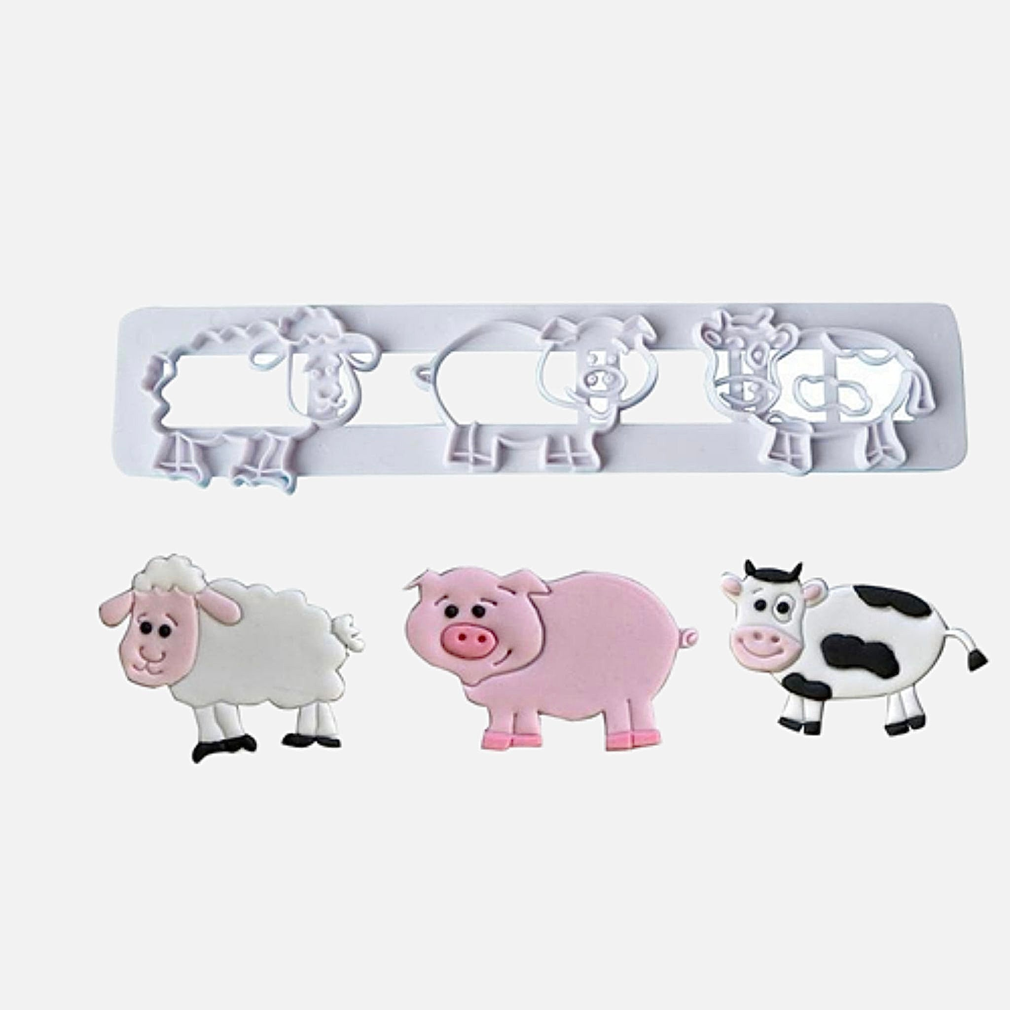 Biscuit Mold       Cute farm animal cutting mold pig sheep cow cartoon DIY fondant cake bakeware molds
