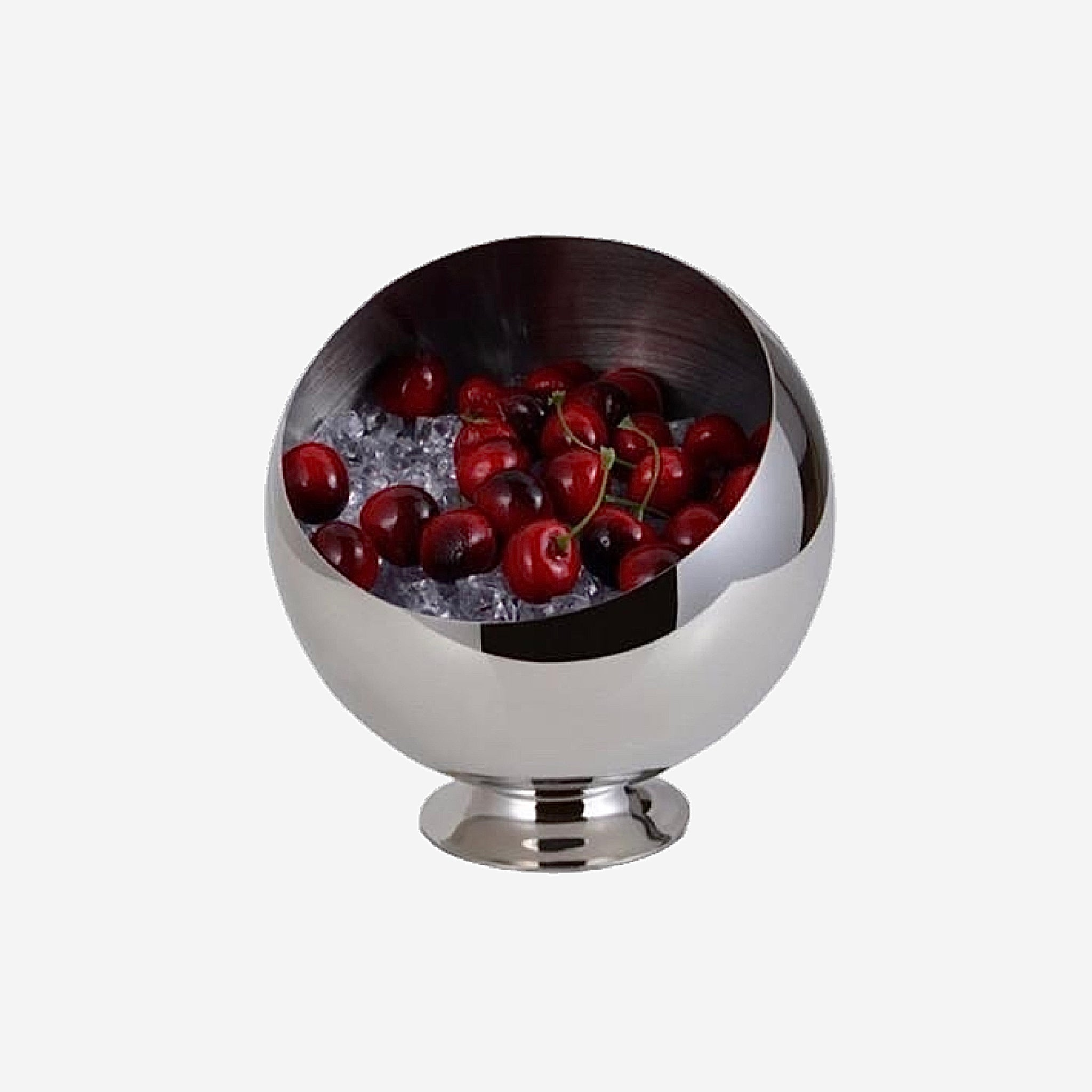 Stainless Steel Oblique Mouth Fruit Bowl