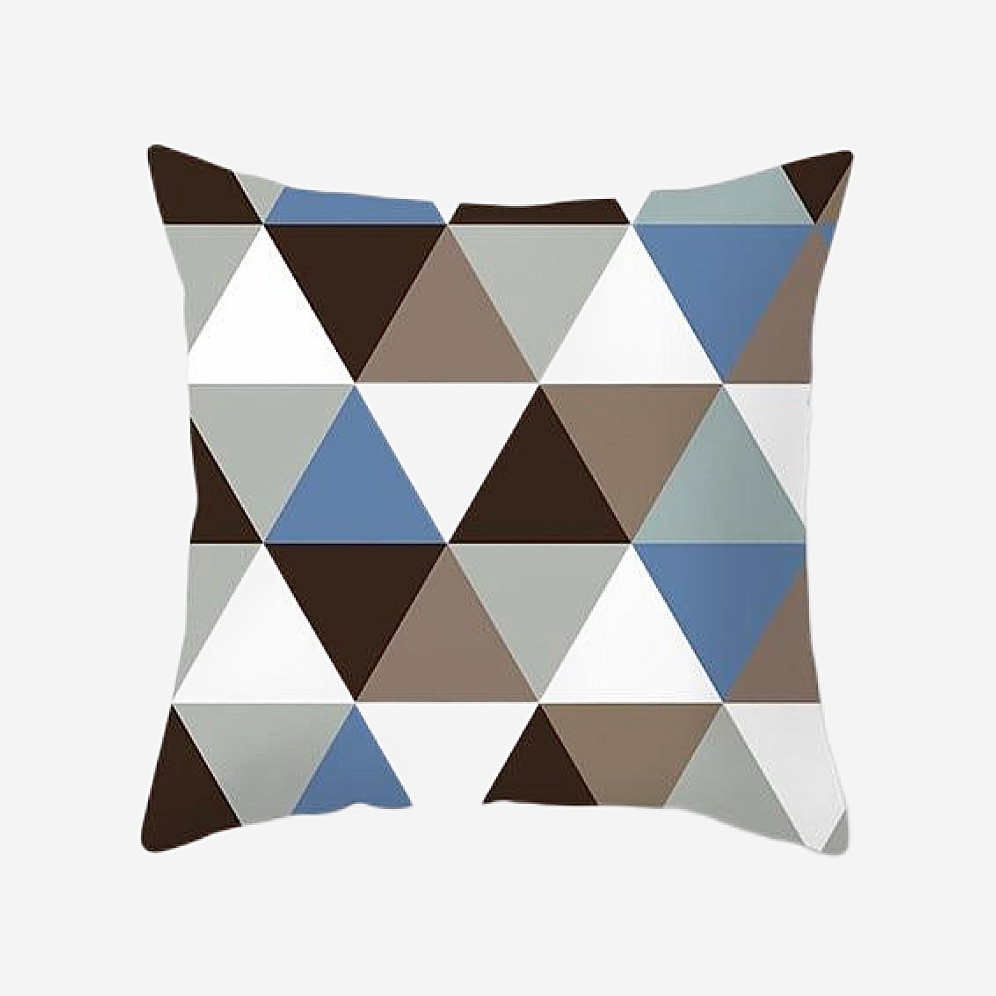Elegant Geometric Cushion Cover   Triangular Cotton Polyester Peachskin Pillow Case Covers for Home Sofa Decoration Trend