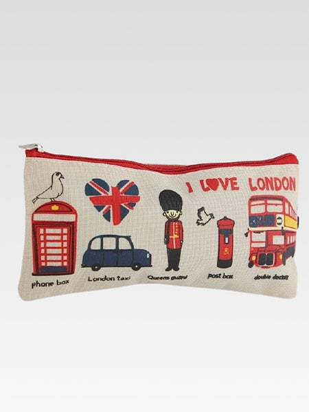 London Canvas Bag     Canvas pen pencil white waterproof cosmetics makeup zipper bags school supplies stationery storage organizer case Trend