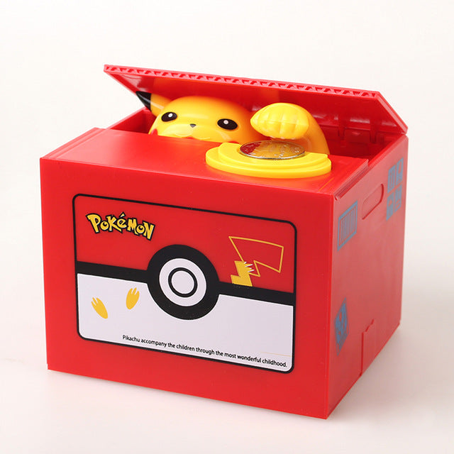 Automatic Pokémon Stealing Coin Piggy Bank Pokemon Money Savings Box Coin Piggy Bank Cash Boxes Stole Coins Child Kids Gift Home Decoration Accessories Style JPN