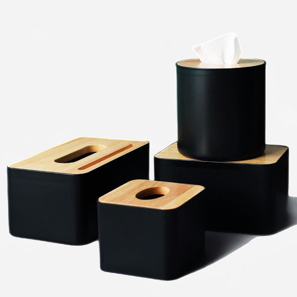 Wooden Tissue Box with Phone Holder Trend