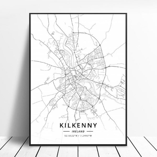 Kilkenny Ireland Wall Art Irish Poster anime Decor
