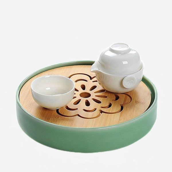 Bamboo Ceramic Japanese Tea Tray Trend