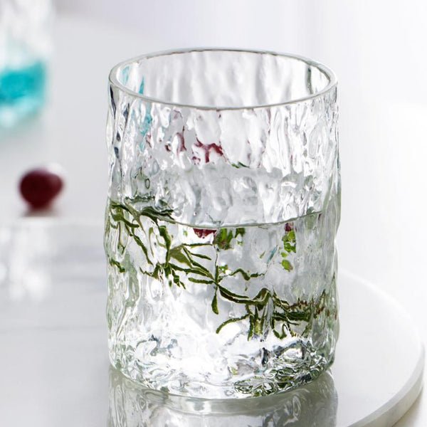Japanese Elegant Whiskey Glass Creative Tree Texture Design Liquor Brandy Transparent Water Cup Japan Glassware Drinkware Trend