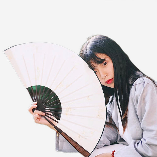 Bamboo Japanese Calligraphy Folding Fan Trend