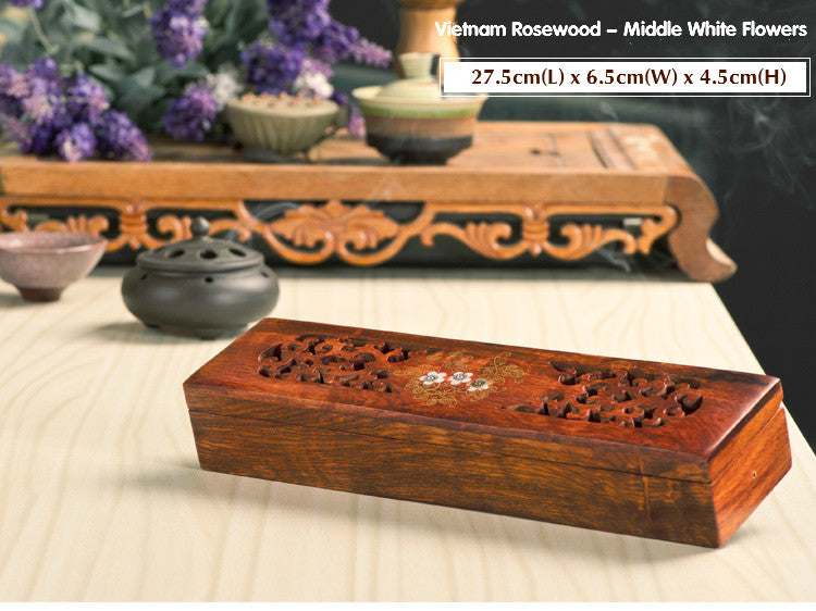 Vietnamese rosewood incense sticks box Vietnam Aromatherapy Accessories Style R