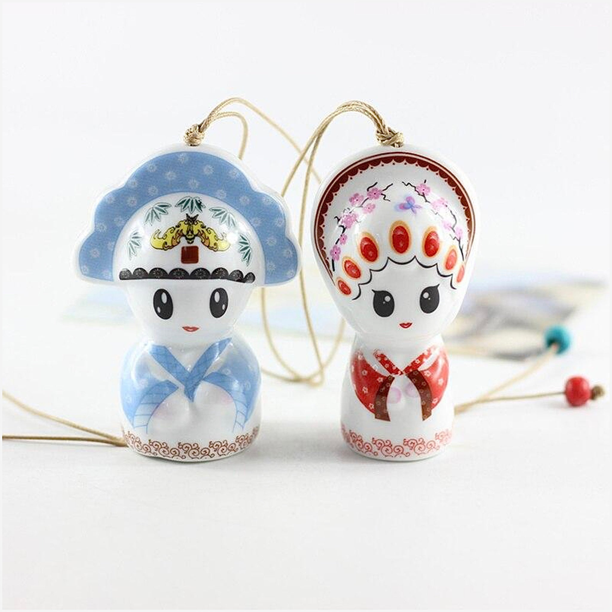 Ceramic Japanese Edo Wind Chimes Handmade Wind Bells Chime Hanging Decoration Window Pendant Japan Creative Gift Trend