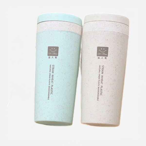 300ml Thermos Flask with Wheat Fiber Cup Trend