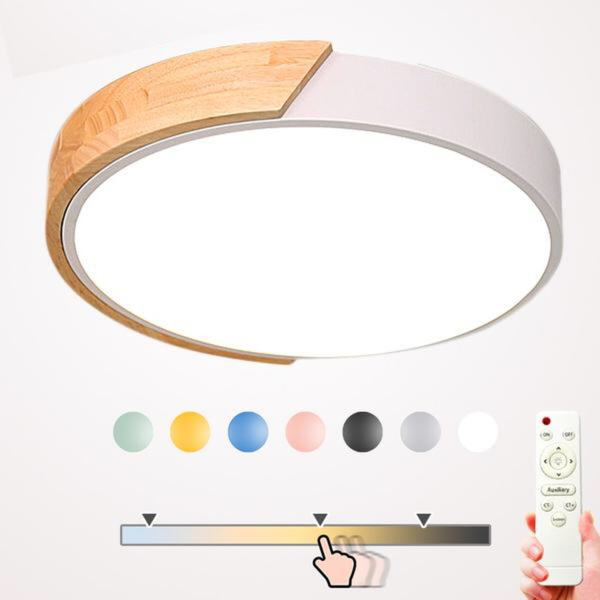 Modern Japanese led ceiling light with remote control Loft living room lights bedroom Nordic interior Wood led Lighting Japan Home Decor Furniture Accessories