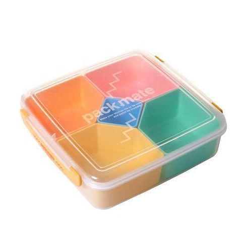 Japan 5 Grid Plastic Orange Kids Bento Lunch Boxes Bento Box