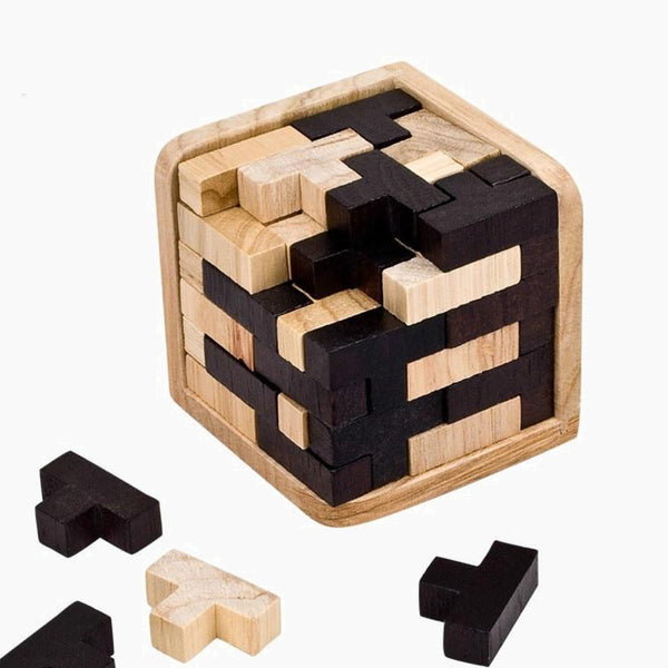 Creative 3D Puzzle Luban Interlocking Wooden Early Educational Wood Puzzles For Adults Kids Brain Teaser IQ Puzzles Trend