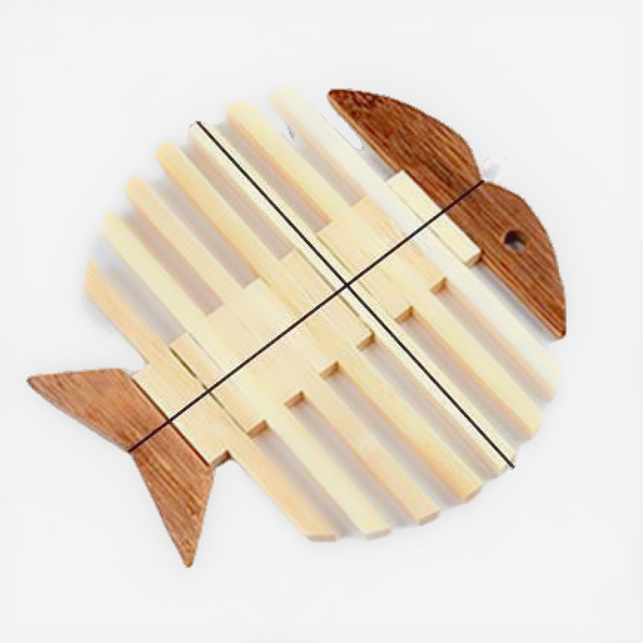 Japanese Wooden Bamboo Fish Table Mat Trend
