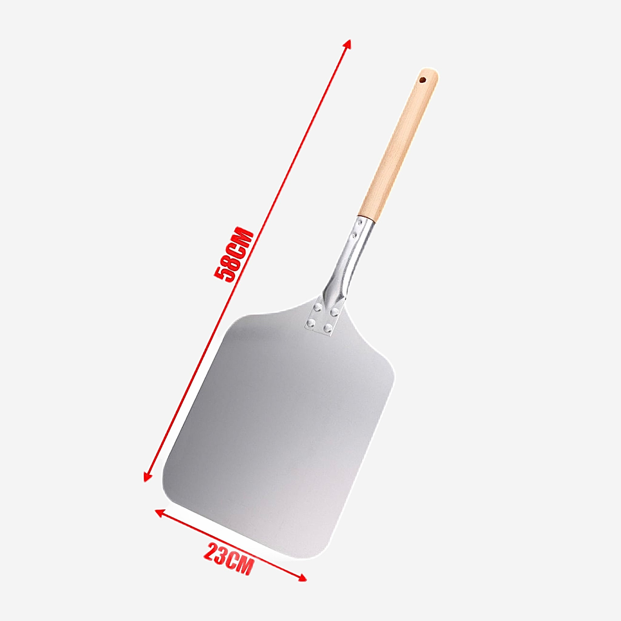 58cm Aluminum Pizza Peel Shovel