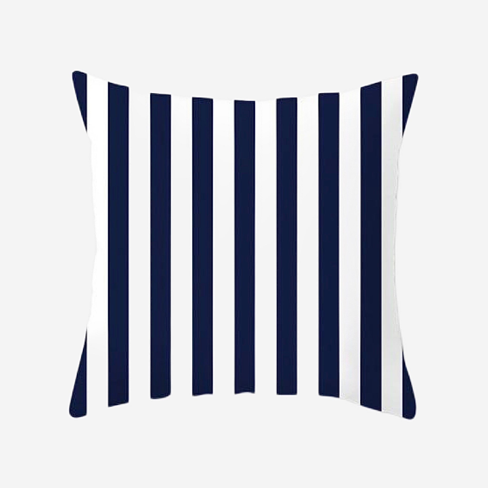 Elegant Geometric Cushion Cover   Stripe Blue and White Cotton Polyester Peachskin Pillow Case Covers for Home Sofa Decoration Trend