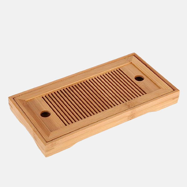 Bamboo Tea Tray     Kung Fu Tea Serving Table with Drain Rack Set Accessories Trend