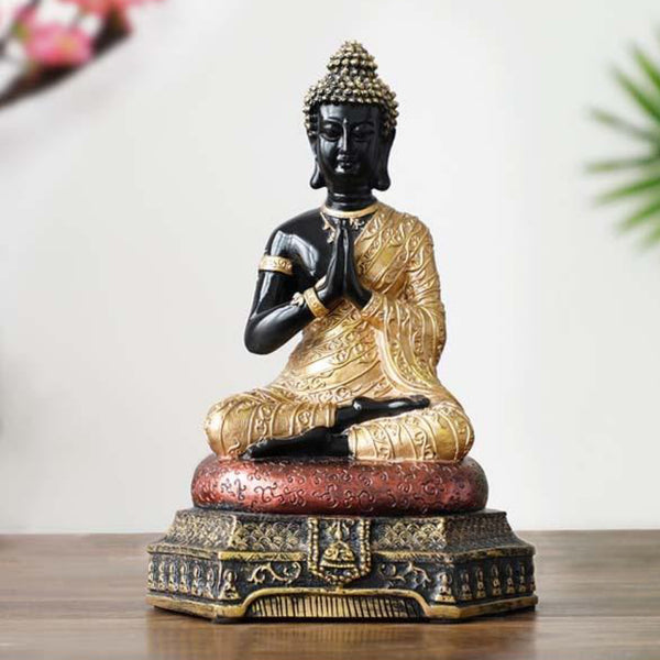 Thai Buddha figure efficacious Home family Protection Talisman Buddhism FENG SHUI golden Buddha statue Asia Thailand Ornament Figurine Trend