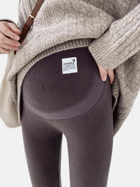 Velvet Maternity Leggings            Warm thick brown color pregnancy trousers clothing Pants for pregnant women Trend