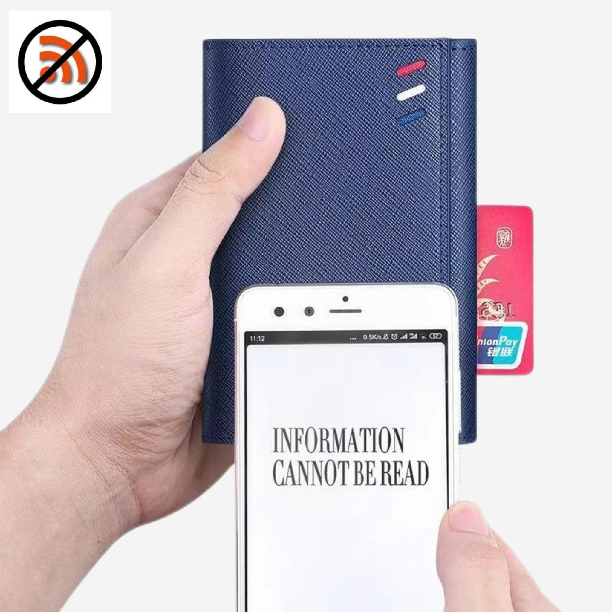 RFID Blocking Cardholder Wallet Elegant slim element three fold multi card position holder ultra thin leather wallets Trend
