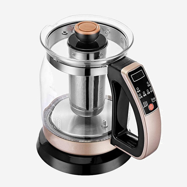 Electric Thermostatic Teakettle Household automatic power cut tea transparent glass mini integrated insulation Trend