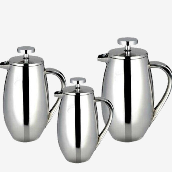 350/750/1000ml Stainless Steel French Press Pot drum shape filter coffee plunger Anti-scald design Trend