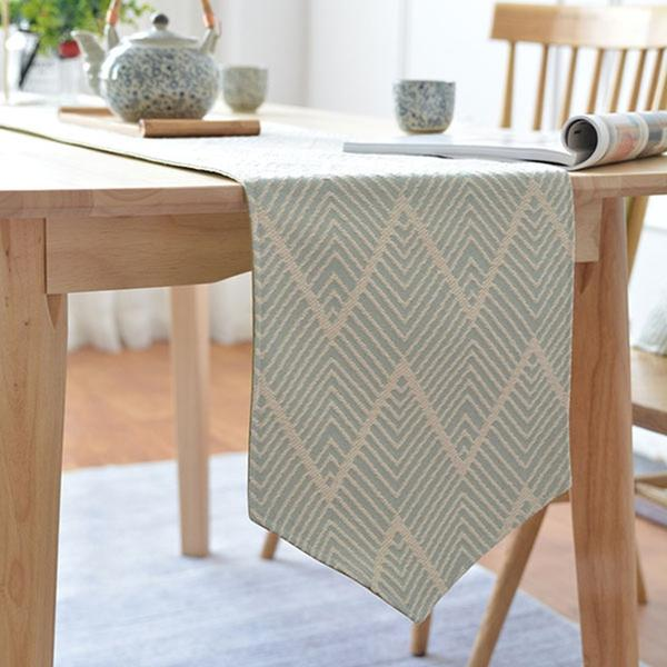 Elegant Japanese Stripe Thmem Green Table Runner High Craft Tea Dinner Dresser Dustproof Table Runners 1 Piece Multipurpose Japan Dining Room Linen Accessories