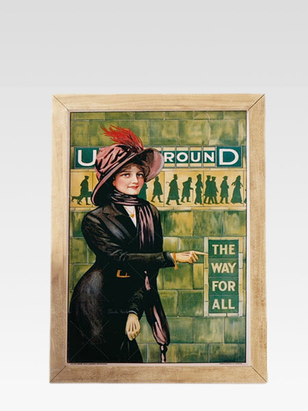 London Underground Tube Art       The Way For All 1911 by Alfred France Vintage UK travel poster Wall art print Trend