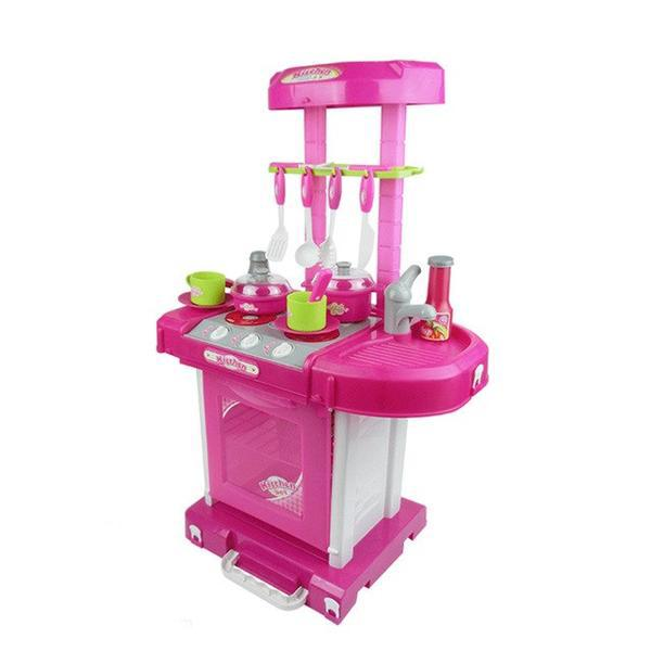 Pretend Play Pink Kitchen Set Child Toy Gender Neutral Boy Girl Kids Minature Portable Cooking Sets Style P
