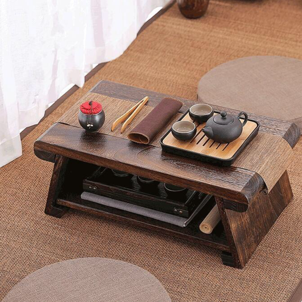 Multi Folding Wooden Japanese Tea Table For Living Room Furniture Japan Low Modern Minimalist Compact Tatami Coffee Folding Wood Tables