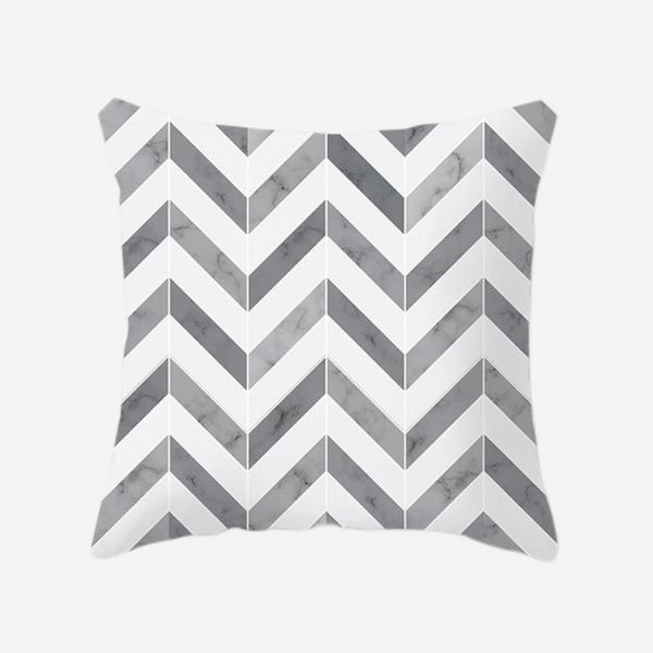 Geometric Cushion Cover Gray / Grey  Stripes Print Pillow Case For Home Chair Sofa Decoration Pillowcases Covers 45cm*45cm Trend