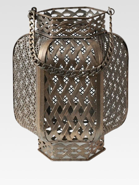 Moroccan Candle Holder   Luxury metal rustic candelabra Bohemian home decor decorative objects Outdoor lanterns garden accessories Trend