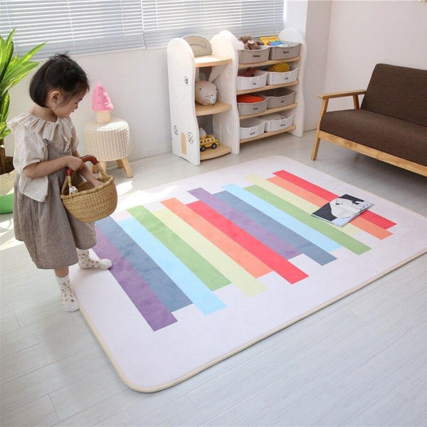 Multicolor Rainbow Rug Mat Home decor living room carpets Children's Bedroom multicolour color baby crawling carpet Trend