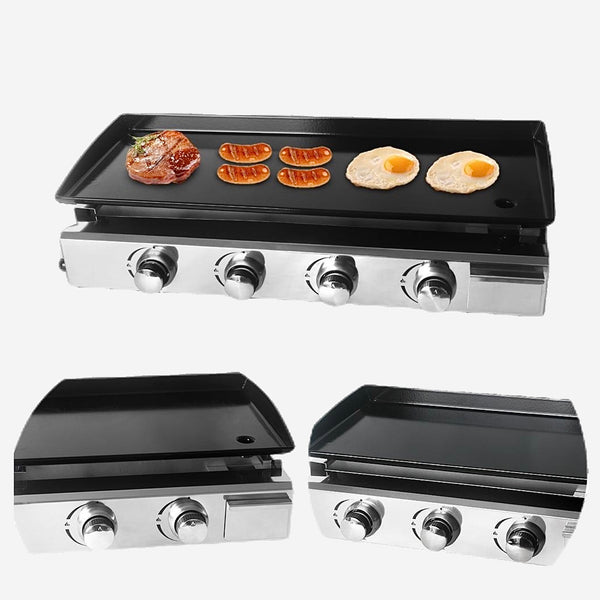 Teppanyaki Grill Plate 2/3/4 Burner Plancha Steak Beaf Frying LPG Gas Griddle Iron Cooking Plates Barbecue BBQ Outdoor Tools Trend