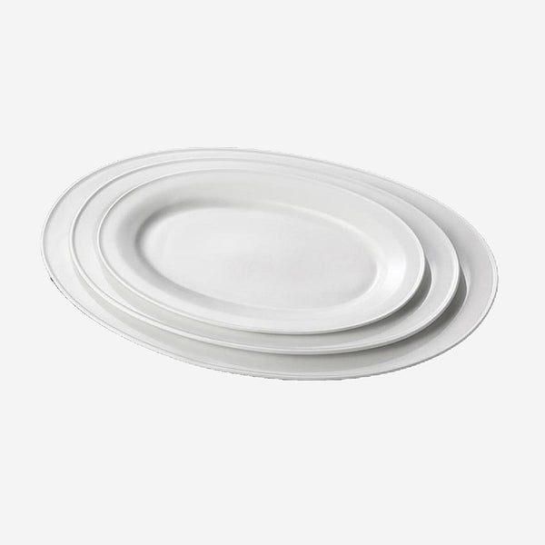 Nordic Porcelain Oval Charger Plate
