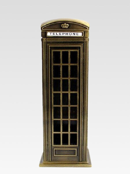 Telephone Booth Coin Box      British money pIggy bank London street bronze phone booths bank souvenir home decor decorative objects Trend