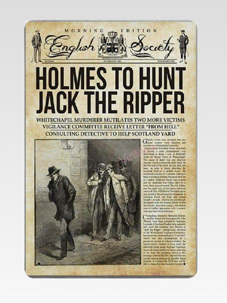 Jack The Ripper Sign   Holmes to Hunt Jack The Ripper retro metal tin signs plaque poster wall art decor shabby chic gift Trend