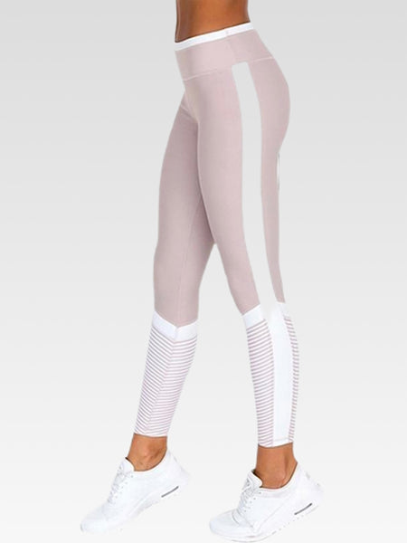 Side Stripe Leggings   Push up digital print Women's high waist miFit pink exercise leggings Trend