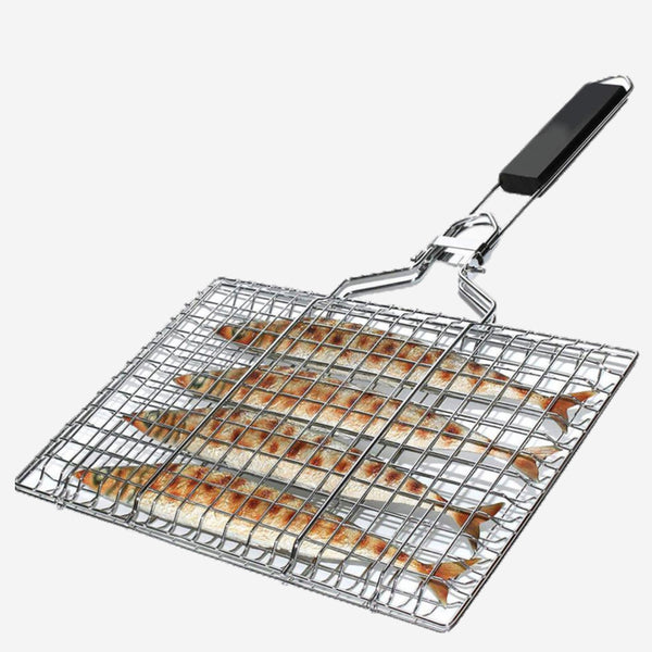 Non-stick BBQ Grill Basket Heat-resistant Barbecue Fish Clip Net Grilling Baskets Outdoor Camping Tools Trend