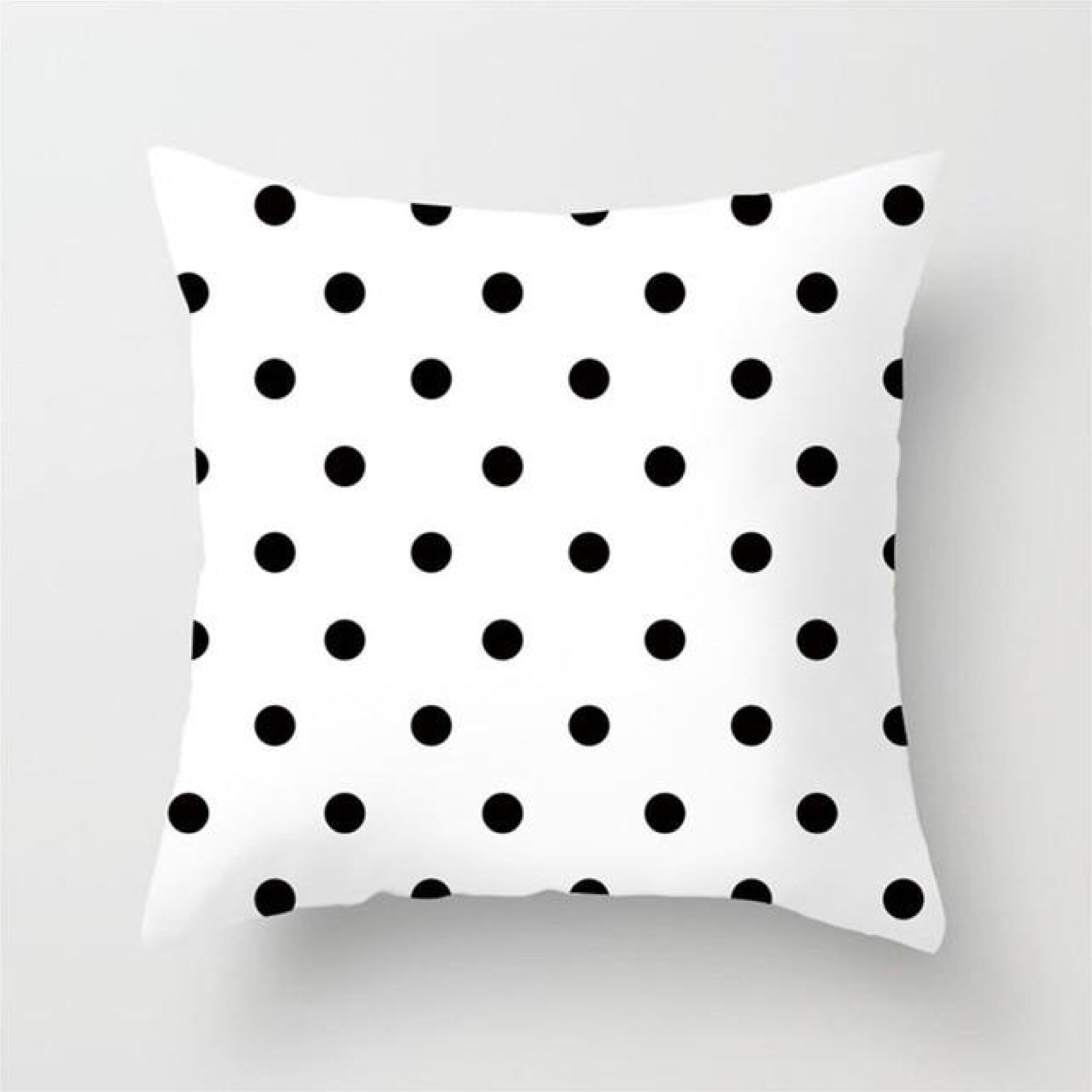 Polka Dot Cushion Cover Black and White Print Pillow Case For Home Chair Sofa Decoration Pillowcases Covers 45cm*45cm Trend