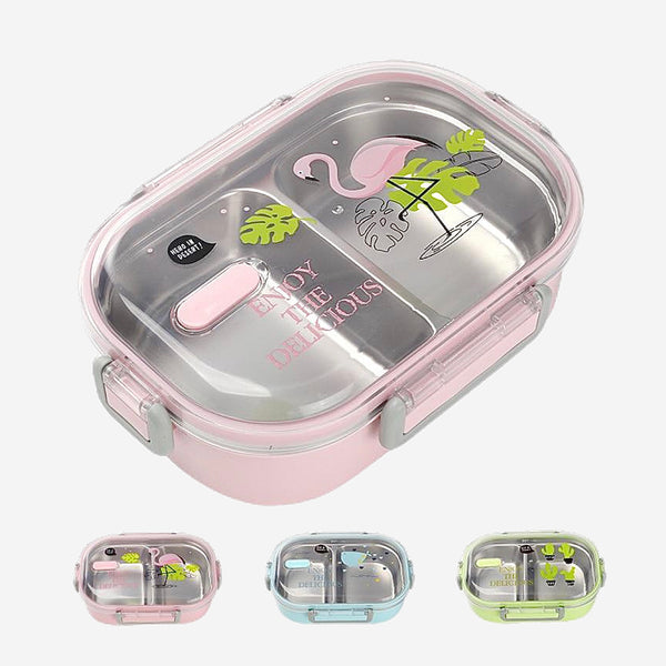 Cute Flamingo Japanese Kitchen Bento Lunch Boxes