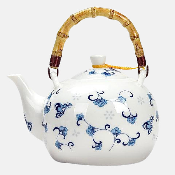 Ceramic Teapot 1500ml  Large capacity blue and white porcelain handmade tea pot with filter Trend