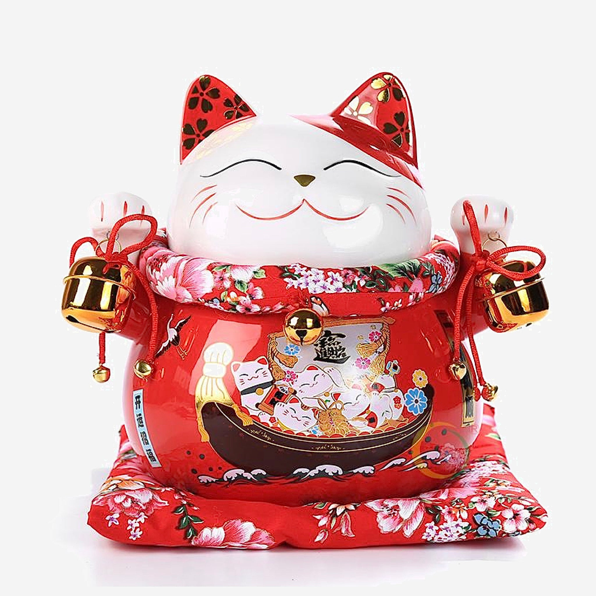 Japanese Good Fortune Lucky Cat Voyage Money Bank