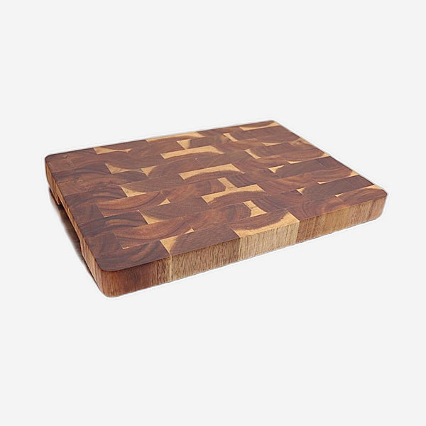 Acacia Wood Chopping Block with Hand Grips Solid Sturdy Premium Grain Serving Tray Platter Cutting Board Gift