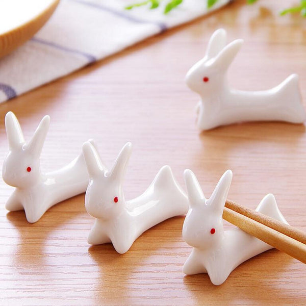 Cute Japanese Rabbit Ceramic Chopsticks Rest