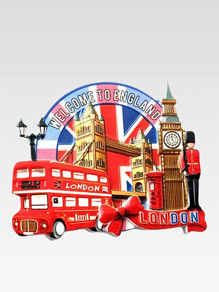 3D Fridge Magnet     London Welcome To England city icons decorative refrigerator magnets sticker 3D resin craft Tourist souvenir gifts Trend