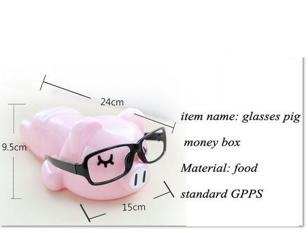 Cute Fashionista Pink Pig Coin Piggy Bank Money Savings Box Coin Piggy Bank Cash Boxes Child Kids Gift Home Decoration Accessories Style G
