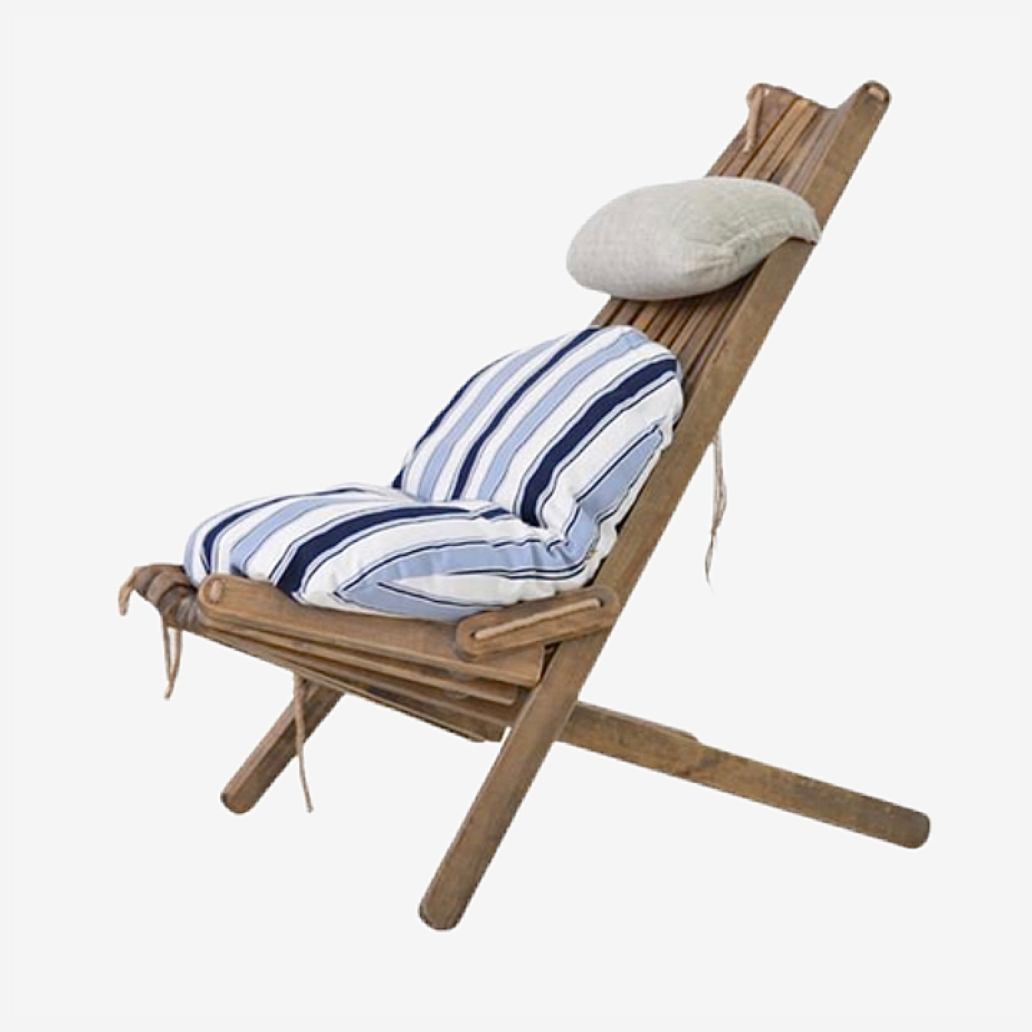 Wooden Lounge Chair with Pillow and Seat Cushion Foldable Outdoor Wood Folding Patio Balcony Outdoors Furniture Trending Style